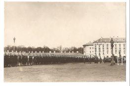 [Russian Empire]. Karl Bulla. Columns of Grenadier Life guard regiment pass by Nicholas II on parade