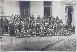 [Soviet]. General Kutepov in an orphanage in Ch?stovice. Photograph. 1920s.