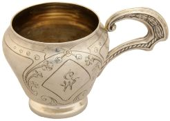 Cup, Silver. 19th century.