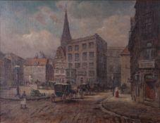 Jensen, Alfred. Old city square.