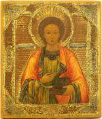 [Russian icon]. Saint Panteleimon the All-Merciful. 19th century. 26,5x31 cm.