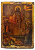 "Russian icon ""Resurrection of Christ"". - 18th century.; 15x11 cm."