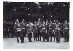 [Russian Empire]. Karl Bulla. A group of officers in the uniform of engineering troops. 1900s. Photo