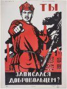 "[Moor, D. Soviet]. Moor, D. ""Have You Signed Up as a Volunteer?"". Leningrad, 1967."