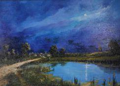 [Soviet art]. Pazan, U. Ukrainian landscape in the evening.