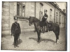 [Russian Empire]. Karl Bulla. Lower ranks of the Life Guards Horse Artillery. Photograph. 1900s. 17x