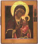 [Russian icon]. Our Lady Akidimskaya / PELAGONIA (ELEUSA). 19th century. 22,5x26 cm.