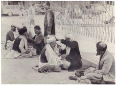 "[Soviet–Afghan War]. Photograph ""Street shavers"". Original print. 1983. 10,2x13,7 cm."