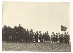 [Russian Empire. Romanov]. Karl Bulla. Nicholas II and French general officers on a halt. Krasnoye S