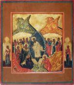 [Russian icon]. Resurrection. 18th-19th century. 26x31 cm