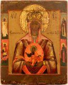 [Russian icon]. Our Lady Tambolskaya. 19th century. 21,5x26,5 cm.