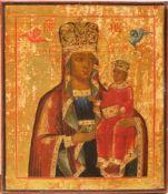 [Russian icon]. Our Lady, Chernigovskaya. 19th century. 31x27 cm