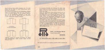 Von der Idee zur Tat. [Berlin, 1929. 21x14,8 cm].
