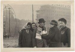 "[Soviet Union]. Arkhipov, A. Redkin, M. Berlin. Postwoman is destroying Hitler's ""Mein Kampf"". 1945."