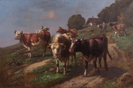 Chelius, Adolf. View with cows.