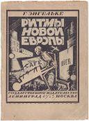 [Ushakov-Poskochin, M. design. 4000 copies. Soviet art]. Engelke, G.Rhythms of new Europe. - Leningr