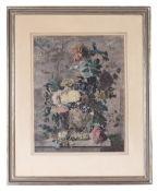 Jan van Huysum. Bouquet of flowers. 1722. Engraving. 50,5x40 cm.