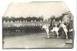[Russian Empire. Romanov]. Karl Bulla. Nicholas II and others at the dragoon regiments review. 1910.
