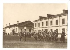 [Russian Empire. Romanov]. Karl Bulla. Nicholas II takes the salute. Minister of War V.V. Sakharov a
