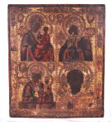 Large Russian four-part icon.