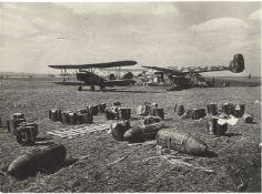 [Soviet Union]. 1st Ukrainian Front. Captured Hitler's airfield outside of Vinnytsia by soviet force