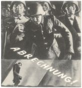 """[Soviet Union]. Zhitomirsky, A. Photo montage """"Bring to justice!"""". 1945. Press photo. 16x15 cm."""