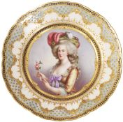 "[Russian]. Wagner. Porcelain plate ""Marie-Antoinette"". Germany, Dresden. 1900s."