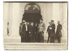 [Russian Empire]. Karl Bulla. President of France Raymond Poincar? and others at the entrance to the