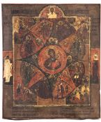 """Russian icon """"Our Lady of the Burning Bush"""""""
