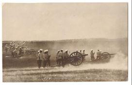 [Russian Empire]. Karl Bulla. Firing exercise. Krasnoye Selo, 1901. Photograph. 14x22 cm.