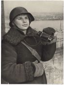 [Soviet Union]. Observation post of local anti-aircraft defence on Saint Isaac's Cathedral. 1940s. P
