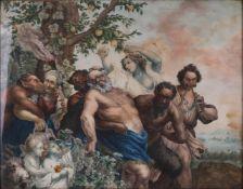 Lange, V. Bacchanalia. 1810. Oil on canvas. 38,5x19 cm.