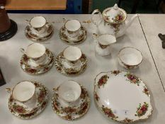A ROYAL ALBERT 'OLD COUNTRY ROSES' TEA SERVICE TO INCLUDE SIX TRIOS