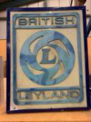 A 'BRITISH LEYLAND' ADVERTISING ILLUMINATED LIGHT BOX SIGN