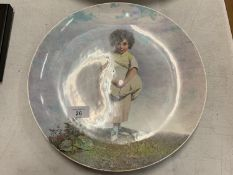 A LARGE COPELAND COLLECTORS PLATE, HAND PAINTED AND SIGNED L BESCHE 31CM DIA