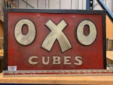 """AN ILLUMINATED """"OXO CUBES"""" SIGN"""