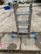 A FOLDING LADDER WITH 12 TREADS - NO VAT