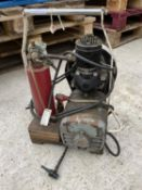 A SMALL COMPRESSOR WITH HOOVER ELECTRIC ENGINE +VAT