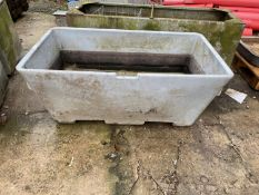 "A PLASTIC TANK 4'6"" LONG 2'6"" WIDE 2; DEEP NO VAT"