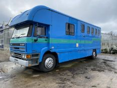 LEYLAND DAF HORSE BOX WITH GOOD LIVING ACCOMODATION MOT EXPIRED + VAT