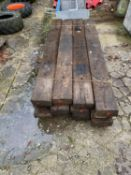 "TWELVE EX RAILWAY SLEEPERS 8' 6"" LONG - NO VAT"