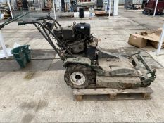 "A HAYTER TWIN DISC CONTRACTOR'S MOWER WITH DIESEL ENGINE - 32"" CUT +VAT"