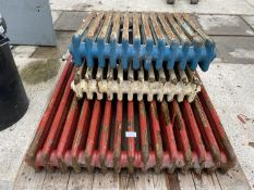 THREE CAST IRON RADIATORS +VAT