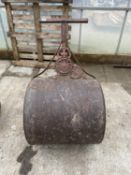 A VINTAGE GARDEN ROLLER BELIEVED BY LEECH, MANCHESTER NO VAT, PROCEEDS TO CHARITY