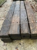 "TWELVE EX RAILWAY SLEEPERS 8' 6"" LONG NO VAT"