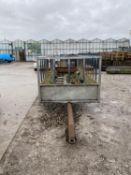 "A 16"" 7"" (5MTR) FEED TRAILER WITH FIXED DRAW BAR NO VAT"