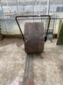 "A VINTAGE CRICKET PITCH ROLLER RADIUS 40"" AND 22"" WIDE NO VAT, PROCEEDS TO CHARITY"
