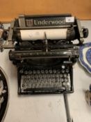 A VERY EARLY 'UNDERWOOD' MANUAL TYPEWRITER