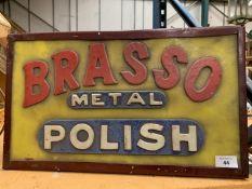AN ILLUMINATED 'BRASSO' SIGN