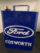 A 'FORD COSWORTH' FUEL CAN WITH BRASS LID